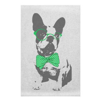 Dogo francés animal del vintage de moda divertido  papeleria de diseño