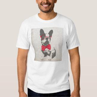 Dogo francés animal del vintage de moda divertido poleras