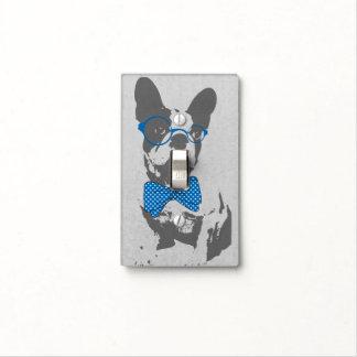 Dogo francés animal del vintage de moda divertido  placa para interruptor