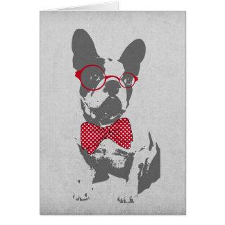 Dogo francés animal del vintage de moda divertido  tarjetón