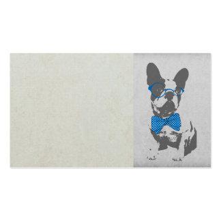 Dogo francés animal del vintage de moda divertido  tarjetas de negocios