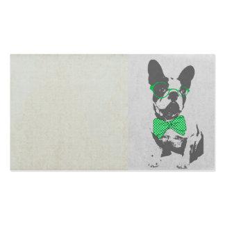 Dogo francés animal del vintage de moda divertido tarjetas de visita