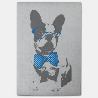 Dogo francés animal del vintage de moda divertido  post-it nota