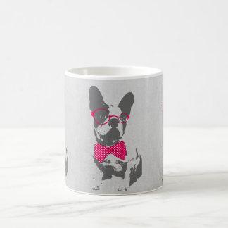 Dogo francés animal del vintage de moda divertido taza clásica