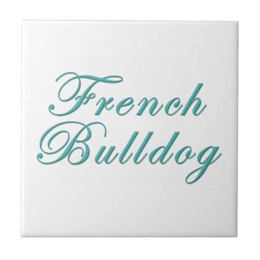 Dogo francés azulejo cuadrado pequeño