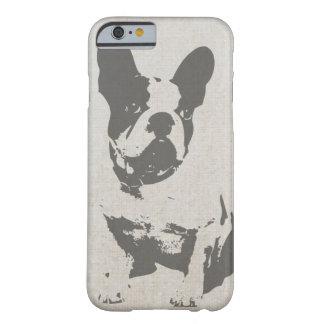 Dogo francés blanco y negro del vintage lindo funda barely there iPhone 6