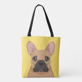 Dogo francés bolsa de tela