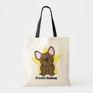 Dogo francés Brindle de la estrella de Kawaii Bolsa