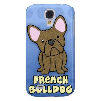 Dogo francés Brindle del dibujo animado azul Funda Samsung S4