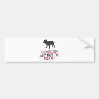 Dogo francés etiqueta de parachoque