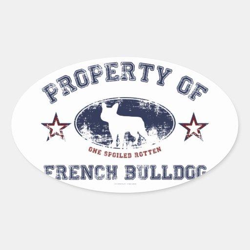 Dogo francés colcomanias de oval