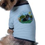 Dogo francés (cuello negro-rojo) camisetas mascota