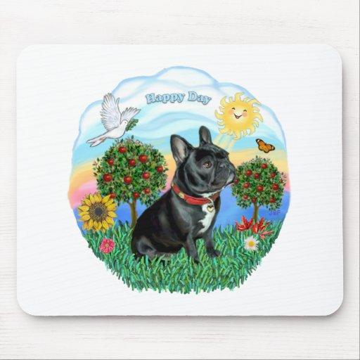 Dogo francés (cuello negro-rojo) alfombrilla de ratones
