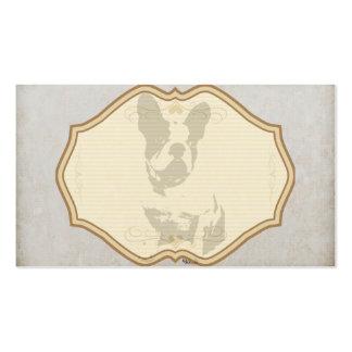 dogo francés de la impresión en textura del tarjetas de visita