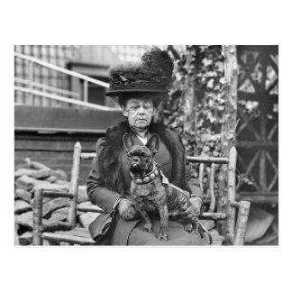 Dogo francés del campeón, los años 20 postal