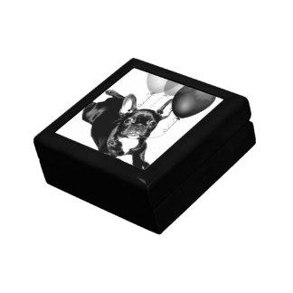 Dogo francés del cumpleaños caja de joyas