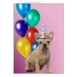 Dogo francés del cumpleaños felicitación