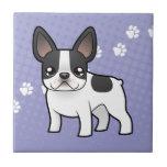 Dogo francés del dibujo animado azulejo