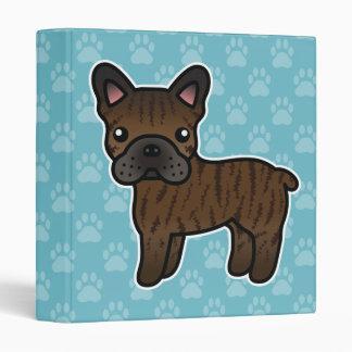 "Dogo francés del dibujo animado Brindle Carpeta 1"""