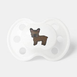 Dogo francés del dibujo animado Brindle Chupete De Bebé