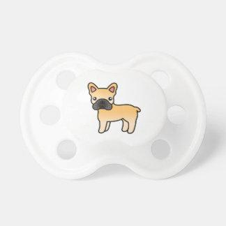 Dogo francés del dibujo animado del cervatillo chupetes para bebés
