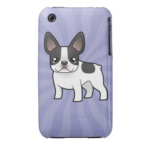 Dogo francés del dibujo animado iPhone 3 cobertura