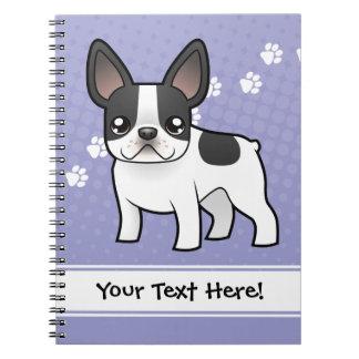 Dogo francés del dibujo animado libreta