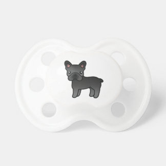 Dogo francés del dibujo animado negro chupetes de bebe