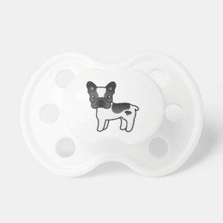 Dogo francés del dibujo animado picazo negro chupete de bebe