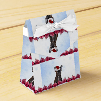 Dogo francés del navidad cajas para regalos de fiestas