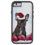 Dogo francés del navidad funda de iPhone 6 tough xtreme