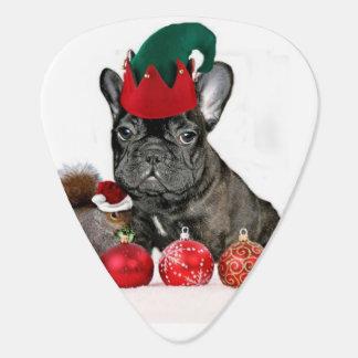 Dogo francés del navidad plectro