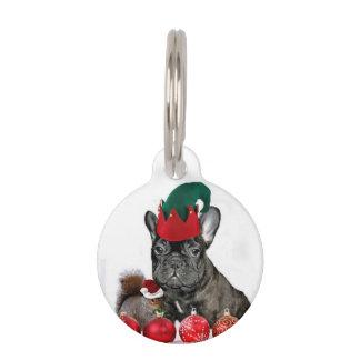 Dogo francés del navidad placa para mascotas