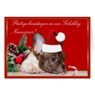 Dogo francés del navidad tarjetas