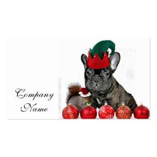 Dogo francés del navidad tarjetas de visita