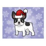 Dogo francés del navidad tarjetas postales