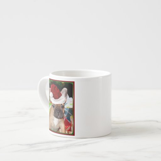 Dogo francés del navidad taza espresso
