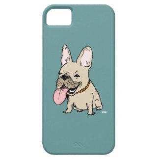 Dogo francés divertido con la lengua enorme que se iPhone 5 carcasa