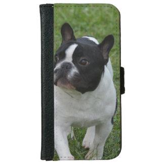 Dogo francés dulce funda cartera para iPhone 6