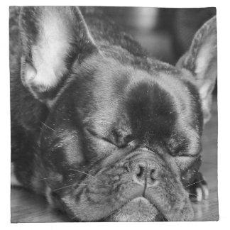 Dogo francés el dormir servilleta