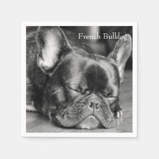 Dogo francés el dormir servilleta desechable