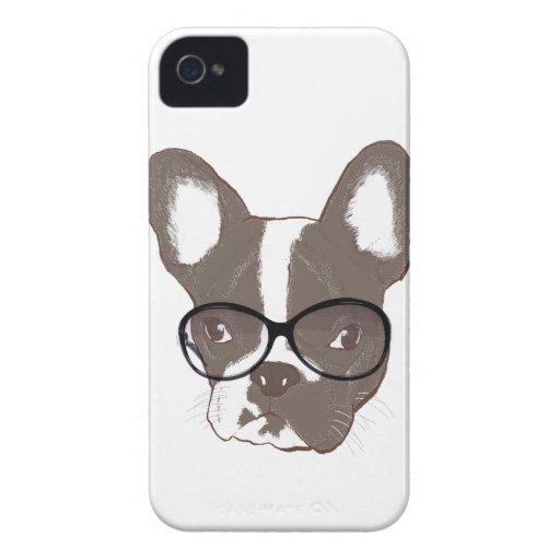 Dogo francés elegante Case-Mate iPhone 4 cobertura