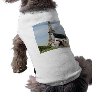 Dogo francés en camisa del perro de París Camiseta De Perro