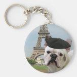 Dogo francés en el llavero de París