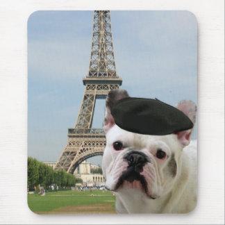 Dogo francés en el mousepad de París Alfombrilla De Ratones