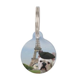 Dogo francés en París Identificador Para Mascota