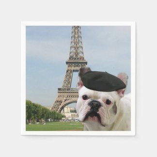 Dogo francés en París Servilleta Desechable