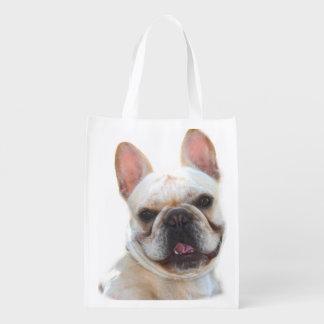 Dogo francés feliz bolsas para la compra