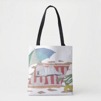 Dogo francés, Frenchie blanco, colorido, playa Bolsa De Tela