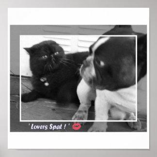 Dogo francés/gato persa impresiones